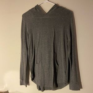 DARK GRAY WET SEAL LIGHT HOODIE
